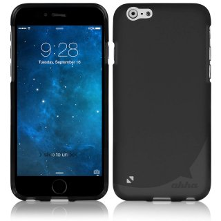 【iPhone6s/6 ケース やわらかく ハリのある TPU素材製】 ahha iPhone6s/6  Gummi Shell Case MOYA  Solid Black