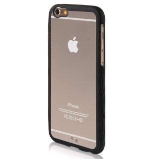 【iPhone6s/6 ケース ストラップホール付き】 ahha iPhone 6s/6  用 Hard Case POZO Flexi Clear/Black