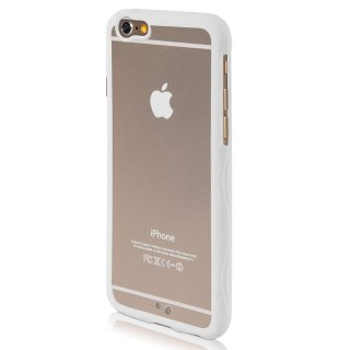 【iPhone6s/6 ケース ストラップホール付き】 ahha iPhone 6s/6  用 Hard Case POZO Flexi Clear/White