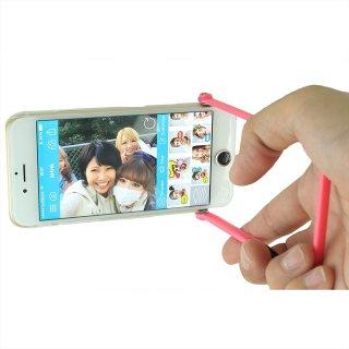 【iPhone6s/6 ケース 自撮りに便利】 ahha iPhone 6s/6  用 Snapshot Case SELFIE Clear/Fuchsia