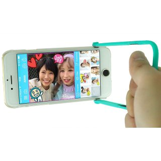 【iPhone6s/6 ケース 自撮りに便利】 ahha iPhone 6s/6  用 Snapshot Case SELFIE Clear/Turquoise