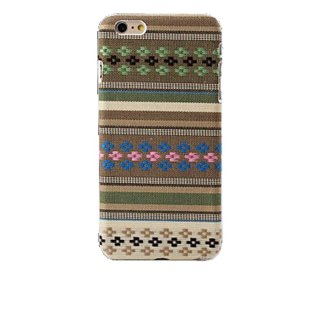 【iPhone6s/6 ケース エスニック調】 iPhone6s/6  Knitting Style Rear Cover Case  Brown