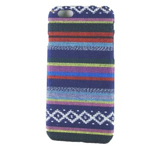 【iPhone6s/6 ケース エスニック調】 iPhone6s/6  Knitting Style Rear Cover Case  Dark Blue