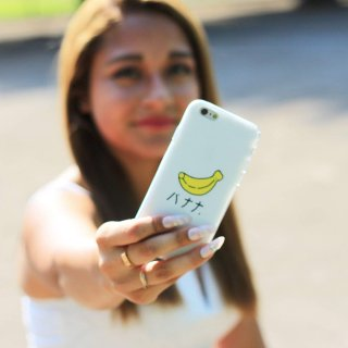 【iPhone6s/6 ケース バナナ】 GauGau iPhone6s/6  DESIGN PRINTS Soft Case  Banana