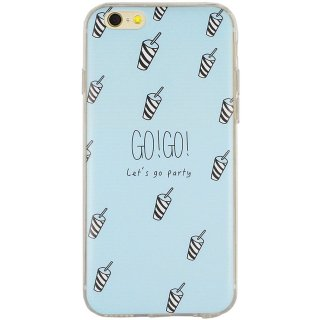 【iPhone6s/6 ケース】 GauGau iPhone6s/6  DESIGN PRINTS Soft Case  Drink