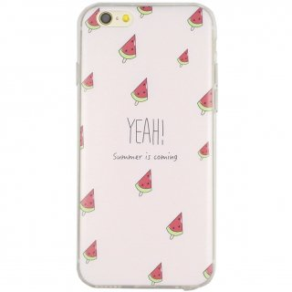 【iPhone6s/6 ケース スイカ】 GauGau iPhone6s/6  DESIGN PRINTS Soft Case  Small Watermelon