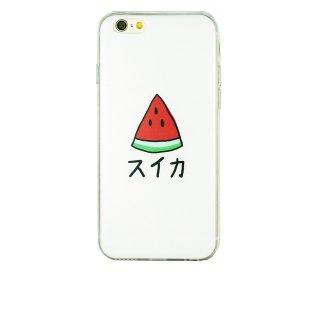 【iPhone6s/6 ケース スイカ】 GauGau iPhone6s/6  DESIGN PRINTS Soft Case  Watermelon