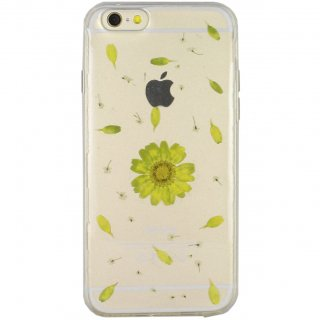 【iPhone6s/6 ケース ドライフラワー封入】 GauGau iPhone6s/6  Dried Flower TPU Soft Clear Case  Daisy