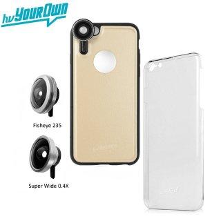 【iPhone6s Plus/6 Plus ケース】 hvYourOwn GoLensOn Case PHOTO KIT レンズ装着ケース(魚眼+ワイド)  ゴールド