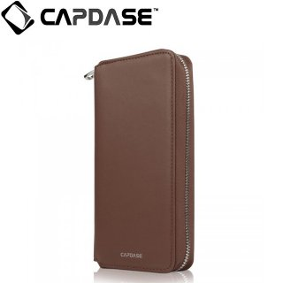 【iPhone 6s ケース ポーチタイプ】 CAPDASE iPhone6s/6 Organizer Wristlet Case  Brown