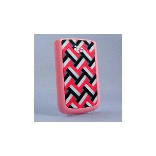 BlackBerry Bold 9780 Battery Door  Knitting Basket Motif A  Matt Pink