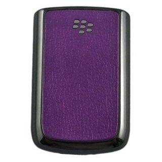 BlackBerry Bold 9780 Battery Door  Koskin Purple  Chrome Gun Metalic