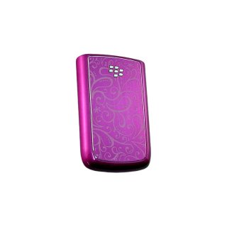 BlackBerry Bold 9780 Battery Metal Door  Hair Line Finished Psychedelic Purple  Gloss Purple