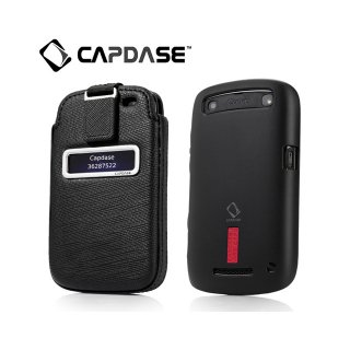【ソフト&ポケットケースのセット】 CAPDASE BlackBerry Curve 9350/9360/9370 Value Set  black