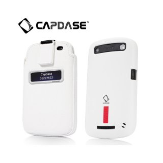 【ソフト&ポケットケースのセット】 CAPDASE BlackBerry Curve 9350/9360/9370 Value Set  White