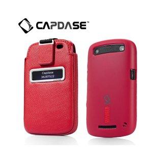 【ソフト&ポケットケースのセット】 CAPDASE BlackBerry Curve 9350/9360/9370 Value Set  Red