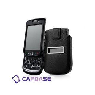 【ソフト&ポケットケースのセット】 CAPDASE BlackBerry Torch 9800/9810 Value Set  Black/Black