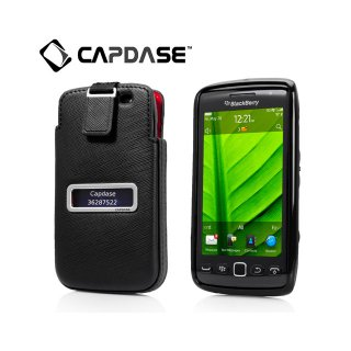 【ソフト&ポケットケースのセット】 CAPDASE BlackBerry Torch 9850/9860 Smart Pocket Value Set  black