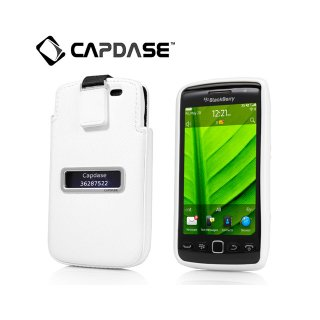【ソフト&ポケットケースのセット】 CAPDASE BlackBerry Torch 9850/9860 Smart Pocket Value Set  White