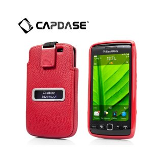 【ソフト&ポケットケースのセット】 CAPDASE BlackBerry Torch 9850/9860 Smart Pocket Value Set  Red