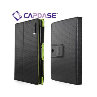 【スタンド機能付きケース】 CAPDASE BlackBerry PlayBook/PlayBook 4G LTE FolioDot  Black/Green