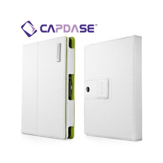 【スタンド機能付きケース】 CAPDASE BlackBerry PlayBook/PlayBook 4G LTE FolioDot  White/Green