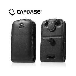 【スタンド機能付き縦開き型ケース】CAPDASE BlackBerry Curve 9380 Leather Case Flip-top  Black