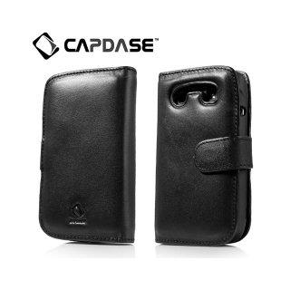 【手帳型ケース】 CAPDASE BlackBerry Bold 9790 Bi-fold (よこ開き) レザーケース (牛革) 黒
