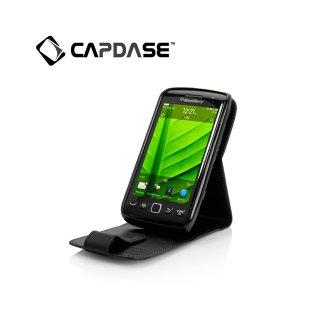 【スタンド機能付き縦開き型ケース】 CAPDASE BlackBerry Torch 9850/9860 Leather Case Flip-top  Black