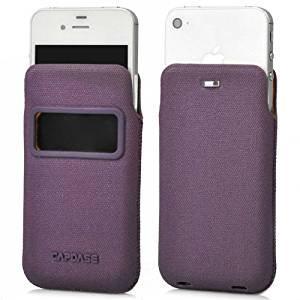【ポケットタイプケース】 CAPDASE iPhone 4S/4 Smart Pocket Posh ID  パープル/オレンジ
