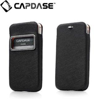 【ポケットタイプケース】 CAPDASE iPhone 4S/4 Smart Pocket Luxe ID  ブラック/オレンジ