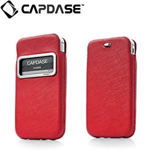 【ポケットタイプケース】 CAPDASE iPhone 4S/4 Smart Pocket Luxe ID  レッド/ブラック
