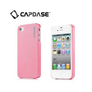 【真珠のような表面のハードケース】 CAPDASE iPhone 4/4S Karapace Protective Case: Pearl  Pearl Pink