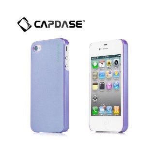 【真珠のような表面のハードケース】 CAPDASE iPhone 4/4S Karapace Protective Case: Pearl  Pearl Purple