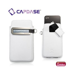 CAPDASE iPhone 4S/4 スマートポケット レザーケース コールID  ホワイト/グレー