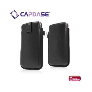 CAPDASE iPhone 4S/4 スマートポケット レザーケース クラコ  ブラック/レッド