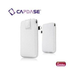 CAPDASE iPhone 4S/4 スマートポケット レザーケース クラコ  ホワイト/グレー