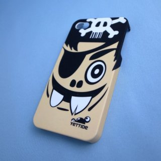 【ユニークなデザインのハードケース】 YETTIDE iPhone4S/4 Funny Face Case - Pirates  Black