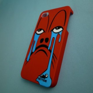 【ユニークなデザインのハードケース】 YETTIDE iPhone4S/4 Funny Face Case - Weep  Red