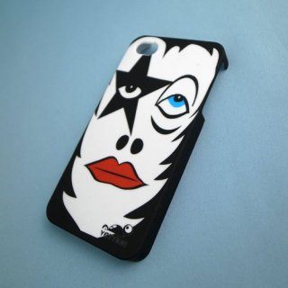 【ユニークなデザインのハードケース】 YETTIDE iPhone4S/4 Funny Face Case - Make a Star  Black