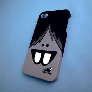 【ユニークなデザインのハードケース】 YETTIDE iPhone4S/4 Funny Face Case - Overbite  Grey