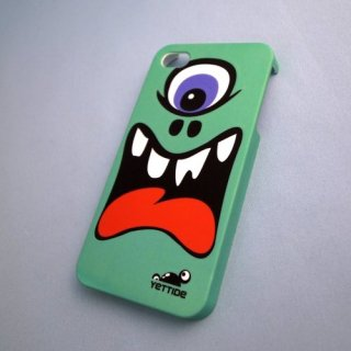 【ユニークなデザインのハードケース】 YETTIDE iPhone4S/4 Funny Face Case - The First Monster  Green