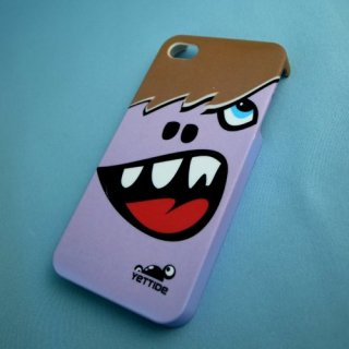 【ユニークなデザインのハードケース】 YETTIDE iPhone4S/4 Funny Face Case - Double tooth  Purple