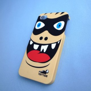 【ユニークなデザインのハードケース】 YETTIDE iPhone4S/4 Funny Face Case - Eye Mask Hero  Black