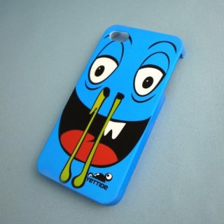 【ユニークなデザインのハードケース】 YETTIDE iPhone4S/4 Funny Face Case - Hanatarashi  Blue