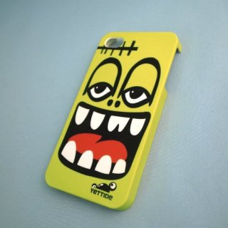 【ユニークなデザインのハードケース】 YETTIDE iPhone4S/4 Funny Face Case - Heehaw  Yellow