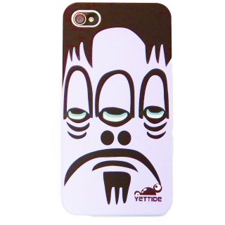 【ユニークなデザインのハードケース】 YETTIDE iPhone4S/4 Funny Face Case - Three Eyes Whisker  Purple