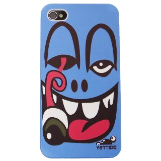 【ユニークなデザインのハードケース】 YETTIDE iPhone4S/4 Funny Face Case - One Eye Throb  Blue