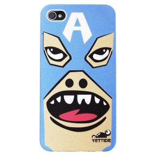 【ユニークなデザインのハードケース】 YETTIDE iPhone4S/4 Funny Face Case - [A] Mask Hero  Blue