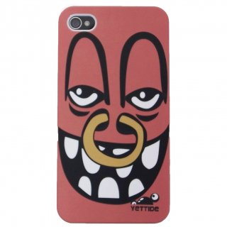 【ユニークなデザインのハードケース】 YETTIDE iPhone4S/4 Funny Face Case - Nose Ring Man  Red